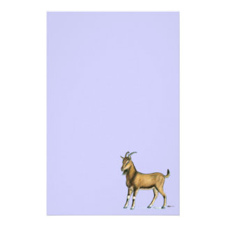 Goat:  Brown Stationery