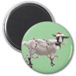 Goat Christmas Refrigerator Magnet