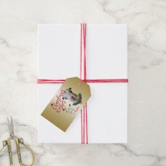 GOAT | Christmas Wishes Baby Goat Kisses LaMancha Gift Tags