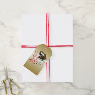 GOAT | Christmas Wishes Baby Goat Kisses Nubian 3 Gift Tags