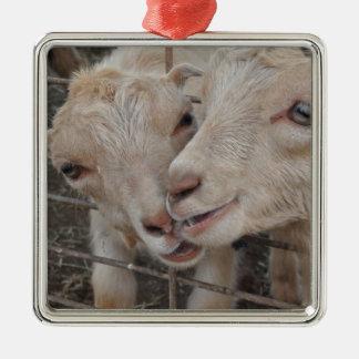 Goat Couple Christmas Tree Ornament
