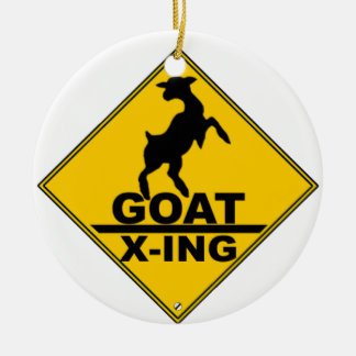 GOAT CROSSING CHRISTMAS ORNAMENT