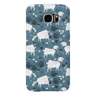 Goat Farm Animal Blue Baby Kid Boy / Andrea Lauren Samsung Galaxy S6 Cases