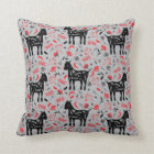 Goat Flowers Cushion