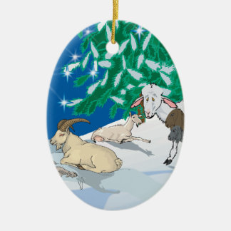 Goat - Gift of the Old One Ceramic Ornament