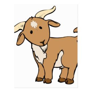 goat goatee postcard