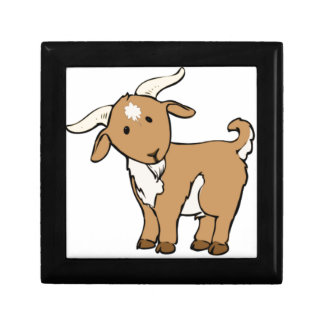 goat goatee small square gift box