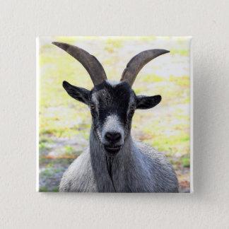 Goat Head 15 Cm Square Badge