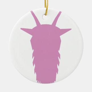 Goat Head Round Ceramic Decoration