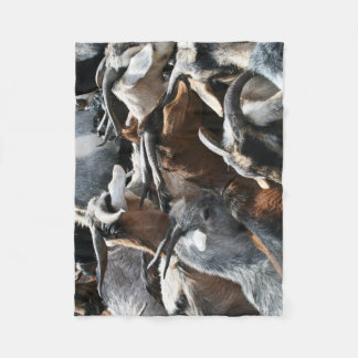 Goat Herd Fleece Throw Baby Dog Blanket Small