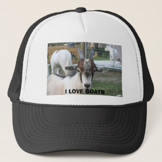 goat, I LOVE GOATS Trucker Hat