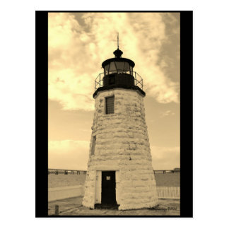 Goat Island Lighthouse post card Newport, RI