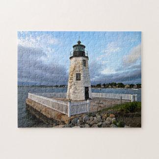Goat Island Lighthouse, Rhode Island Jigsaw Puzzle