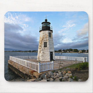 Goat Island Lighthouse, Rhode Island Mousepad