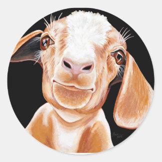 Goat Love Round Sticker