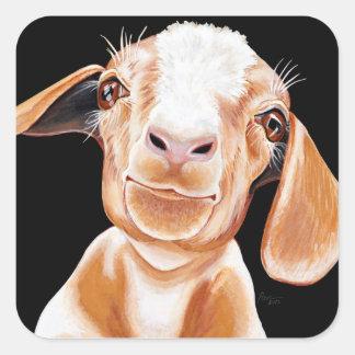 Goat Love Square Sticker