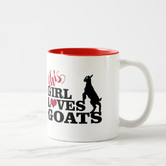 GOAT LOVERS GIFT | This Girl Loves Goats Baby Togg Two-Tone Coffee Mug