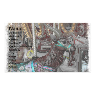 Goat Merry-Go-Round or Carousal Business Cards