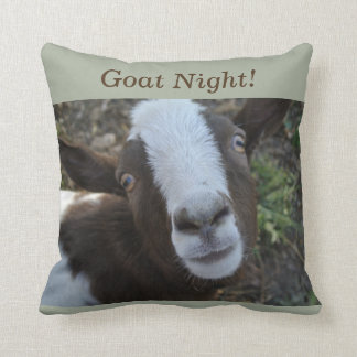 Goat Night Barnyard Farm Animal Cushion