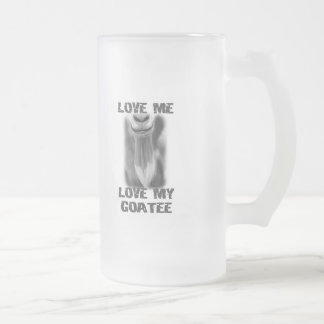 Goat Pet Farm Animal Love My  Goatee Dad Men Frosted Glass Beer Mug