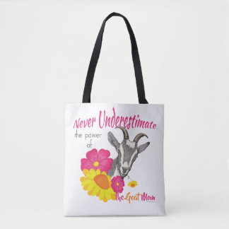 GOAT | Power of the GOAT MOM by GetYerGoat Tote Bag