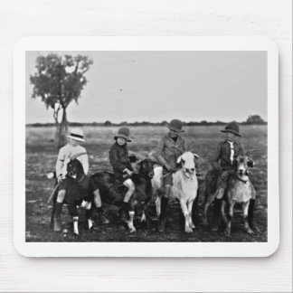Goat Riders of the past Mouse Pad