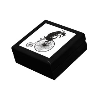 Goat Riding a Vintage Penny Farthing Bike Gift Box