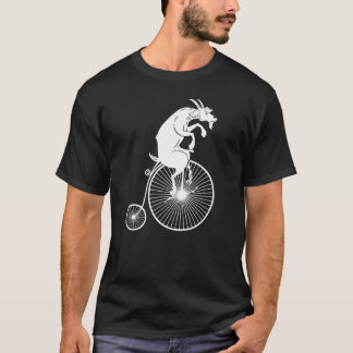 Goat Riding on Vintage Bike T-Shirt