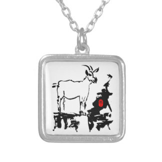 Goat rocks - 2015 Year of The Goat - Silver Plated Necklace