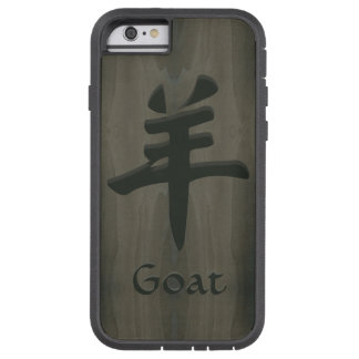 Goat Sheep Ram Yang Chinese Symbol Faux Wood Tough Xtreme iPhone 6 Case
