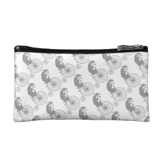 Goat Silhouette Riding Vintage Bike Cosmetic Bag