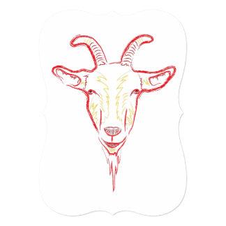 goat sketch card