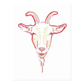 goat sketch postcards