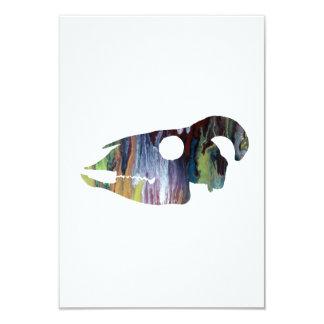Goat Skull Art Card