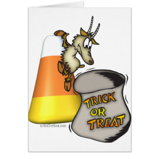 Goat Trick or Treat Halloween Gifts Card