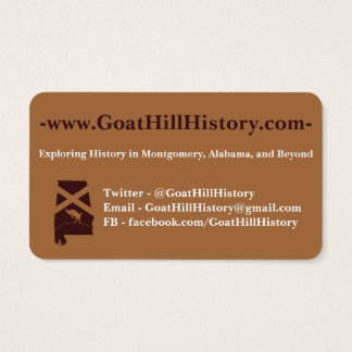 GoatHillHistory Business Cards