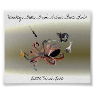 goatmonkeyoctopus, Monkeys...Goats...Grub...Dri... Poster