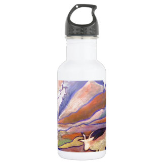 Goats and mountains 532 ml water bottle