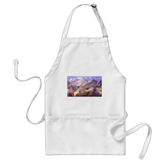 Goats and mountains adult apron