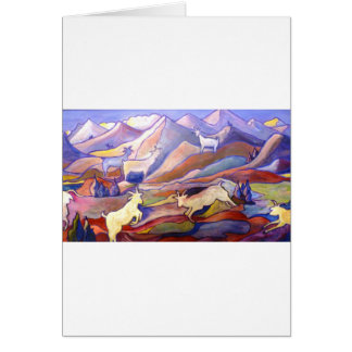 Goats and mountains card