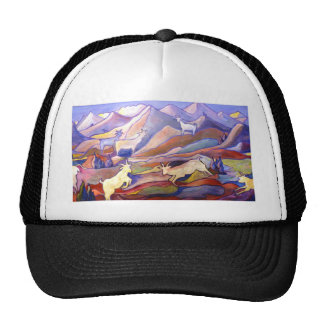 Goats and mountains trucker hats