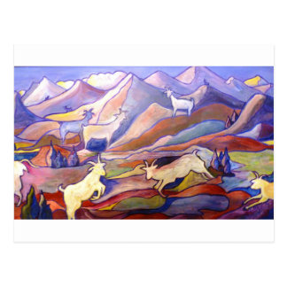 Goats and mountains postcard