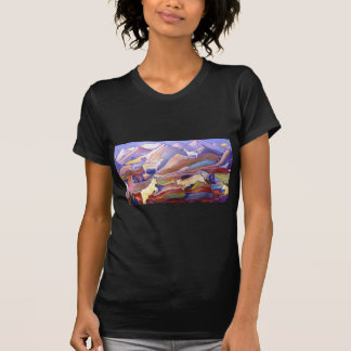 Goats and mountains t shirt