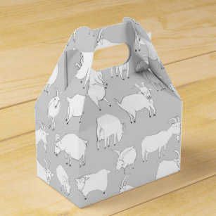 cute animal favour boxes zazzle au  goats playing grey favour box