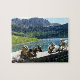 Goats Soaking Up the Sun Jigsaw Puzzle