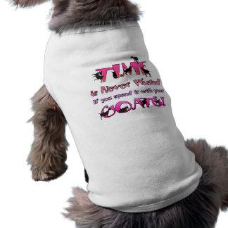 Goats | Time is Never Wasted |GetYerGoat Sleeveless Dog Shirt