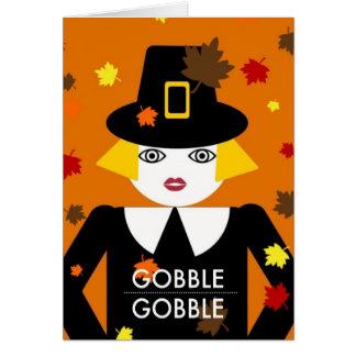 Gobble Gobble © 2011 M. Martz Greeting Card