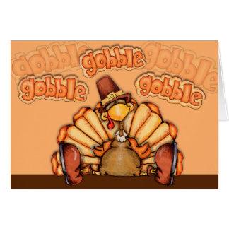 Gobble Gobble Gobble - Greeting Card
