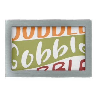 Gobble Gobble Gobble Thanksgiving Design Belt Buckle