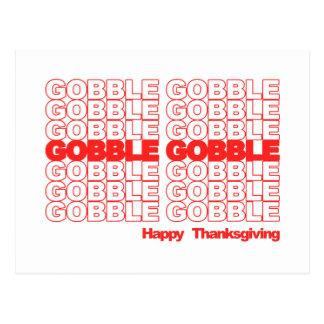 Gobble Gobble Retro Thanksgiving Post Card